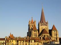 Kathedrale Lausanne Stockfotografie