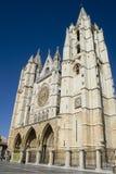Kathedrale Leon stockfotografie