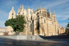 Kathedrale in Leon Stockfotografie