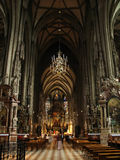 Kathedrale nach innen Stockfoto