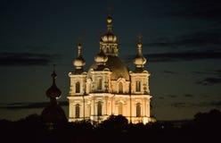 Kathedrale nachts Stockfoto