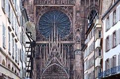 Kathedrale Notre Dame, Straßburg, Elsass, Frankreich lizenzfreie stockbilder