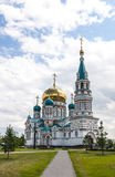 Kathedrale in Omsk Stockfoto