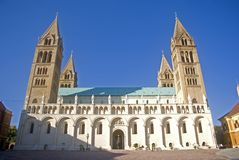 Kathedrale, Pecs, Ungarn Stockfotografie