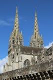 Kathedrale in Quimper, Frankreich lizenzfreies stockbild