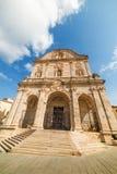 Kathedrale Sans Nicola in Sassari Stockfotos
