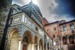 Kathedrale Sans Zeno in Pistoia Lizenzfreie Stockfotos