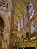 Kathedrale Santa Mariade-Leon. Spanien Lizenzfreies Stockfoto
