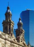 Kathedrale in Santiago de Chile Stockfotos