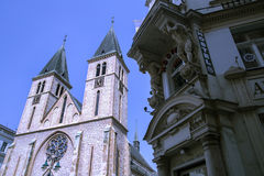 Kathedrale in Sarajevo Lizenzfreie Stockfotografie