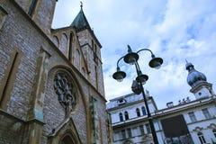 Kathedrale in Sarajevo Stockbilder