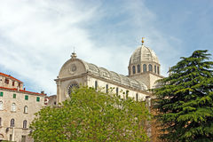 Kathedrale in Sibenik Stockfotografie
