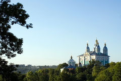 Kathedrale in Smolensk, Russland Lizenzfreies Stockbild