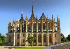 Kathedrale St. Barbaras, Kutna Hora Stockbild