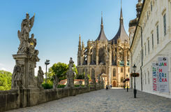 Kathedrale St. Barbaras, Kutna Hora Lizenzfreies Stockfoto