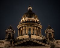 Kathedrale St. Isaacs, St Petersburg, Russland, stockbild