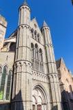 Kathedrale St. Salvators von der Unterseite in einem sonnigen Tag stockfotografie