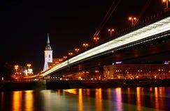 Kathedrale Str.-Martins und neue Brücke stockbild