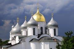 Kathedrale Str.-Sophia in Novgorod, Russland Stockfotografie