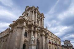 Kathedrale in Syrakus Stockfoto