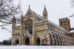 Kathedrale und Abbey Church des Heiligen Alban Stockfotografie