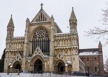 Kathedrale und Abbey Church des Heiligen Alban, Großbritannien Lizenzfreies Stockfoto