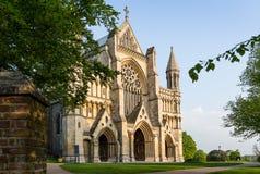 Kathedrale und Abbey Church des Heiligen Alban StAlbans, Großbritannien Stockfotos