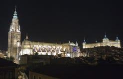 Kathedrale und Alcazar von Toledo Stockbild