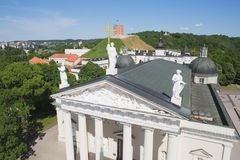 Kathedrale und Gediminas-Turm Stockbild