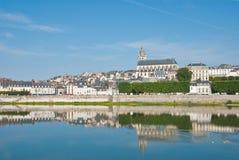 Kathedrale und Häuser, Blois Lizenzfreies Stockfoto