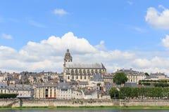 Kathedrale und Häuser, Blois, Tal von der Loire Lizenzfreie Stockfotografie