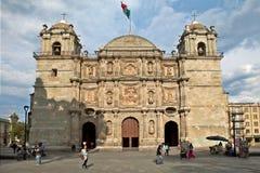 Kathedrale unserer Dame der Annahme, Oaxaca (Mexiko) Stockbilder
