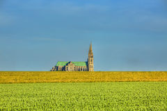 Kathedrale unserer Dame von Chartres lizenzfreies stockfoto