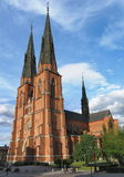 Kathedrale in Uppsala Lizenzfreie Stockbilder