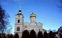Kathedrale von Überziehschutzanlage Boris und Gleb in Dmitrov Stockfoto