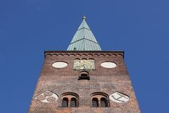 Kathedrale von Aarhus Stockfotos