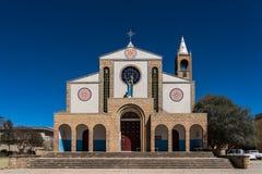 Kathedrale von Adigrat in ?thiopien in Afrika lizenzfreie stockfotografie