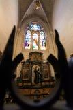 Kathedrale von Almudena-Innenraum Stockfotos