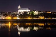 Kathedrale von Blois nachts Stockbild