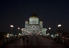Kathedrale von Christ der Retter am Abend. Lizenzfreies Stockfoto