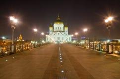 Kathedrale von Christ der Retter nachts lizenzfreie stockbilder