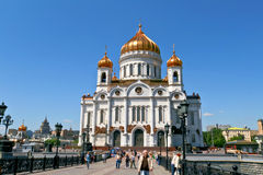 Kathedrale von Christus der Retter in Moskau, Russland. Lizenzfreie Stockbilder