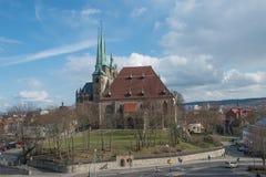 Kathedrale von Erfurt in Deutschland Stockfotografie