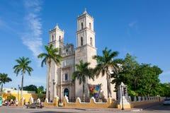 Kathedrale von Hauptstadt Sans Ildefonso Merida von Yucatan Mexiko Lizenzfreie Stockfotografie
