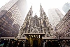 Kathedrale von Heiligem Patrick im Blizzard Lizenzfreies Stockbild