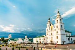 Kathedrale von Heiliger Geist in Minsk - hauptsächlichorthodoxes stockfotos