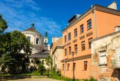 Kathedrale von Johns der Baptist und der Evangelist in Lublin - PO Lizenzfreies Stockfoto