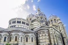 Kathedrale von La Major in Marseille, Frankreich lizenzfreie stockfotos