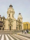 Kathedrale von Lima Facade Low Angle View Lizenzfreie Stockfotos