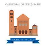 Kathedrale von Lubumbashi in der Republik Kongo F stock abbildung